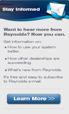 Stay informed with Reynolds email
